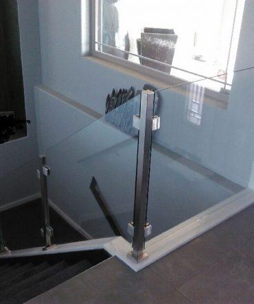 Glass Stairway Barrier Installation in Pueblo, CO
