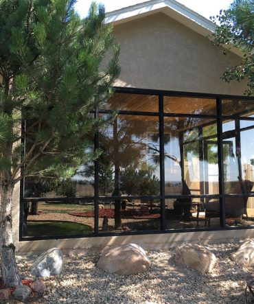 All around glass window project for residential home in Pueblo