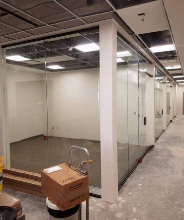 Commercial Glass Windows and Doors as Room Separators
